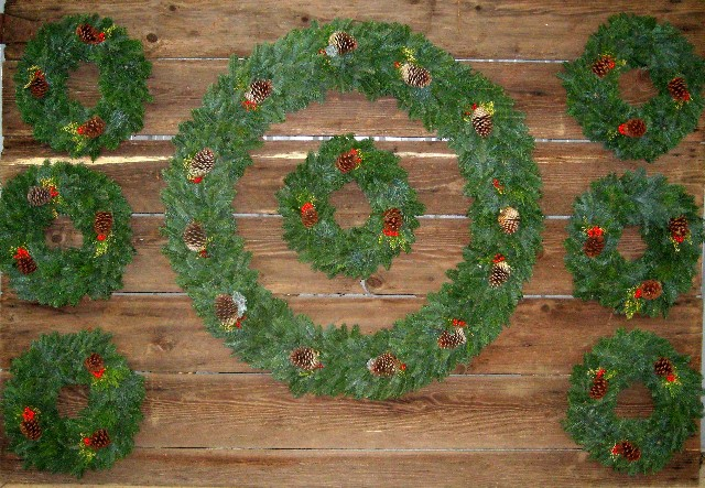 Wreaths, Swags, Garlands, Etc.